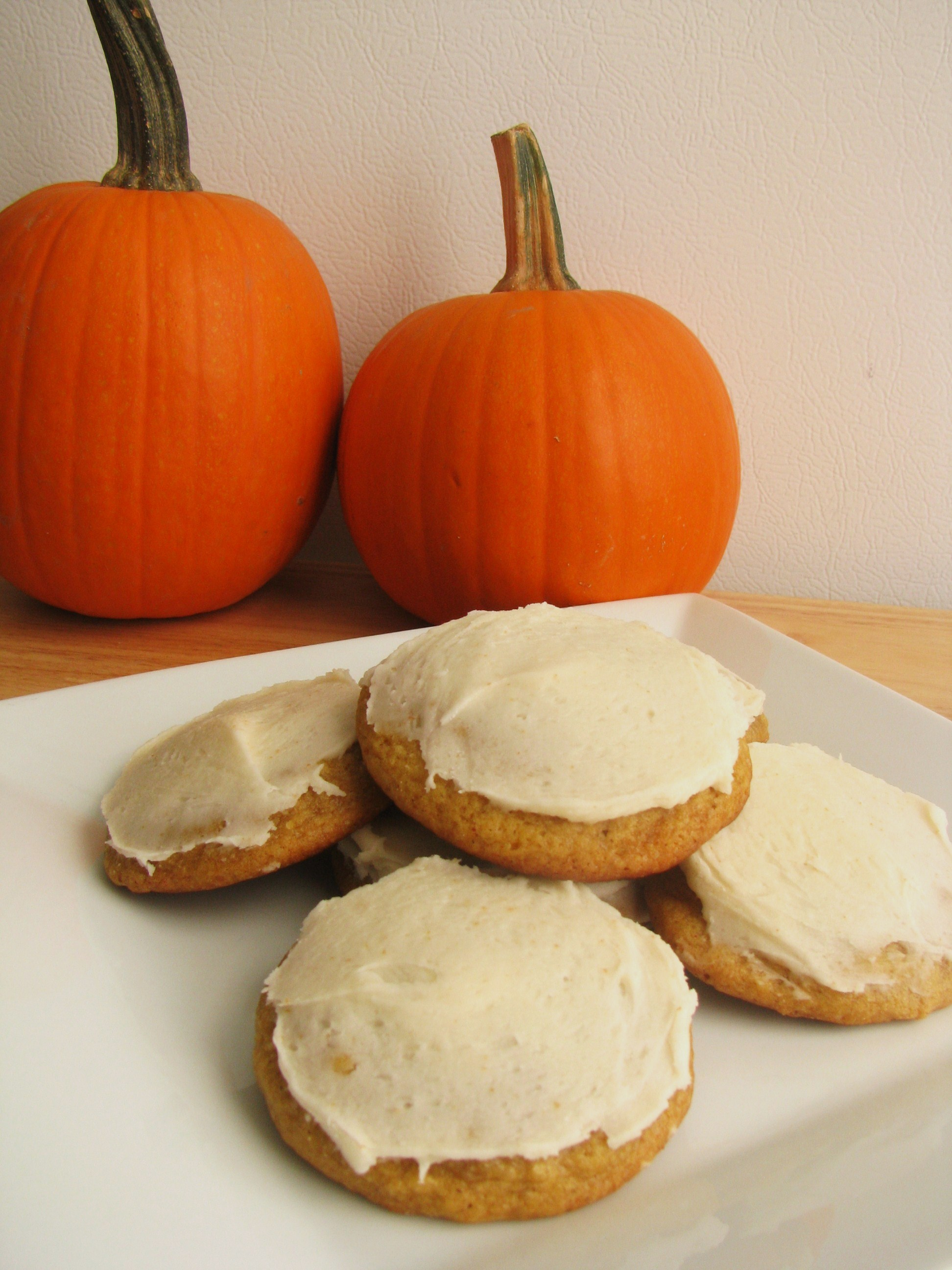 Pumpkin Cookies with Browned Butter Frosting | Stick a ...