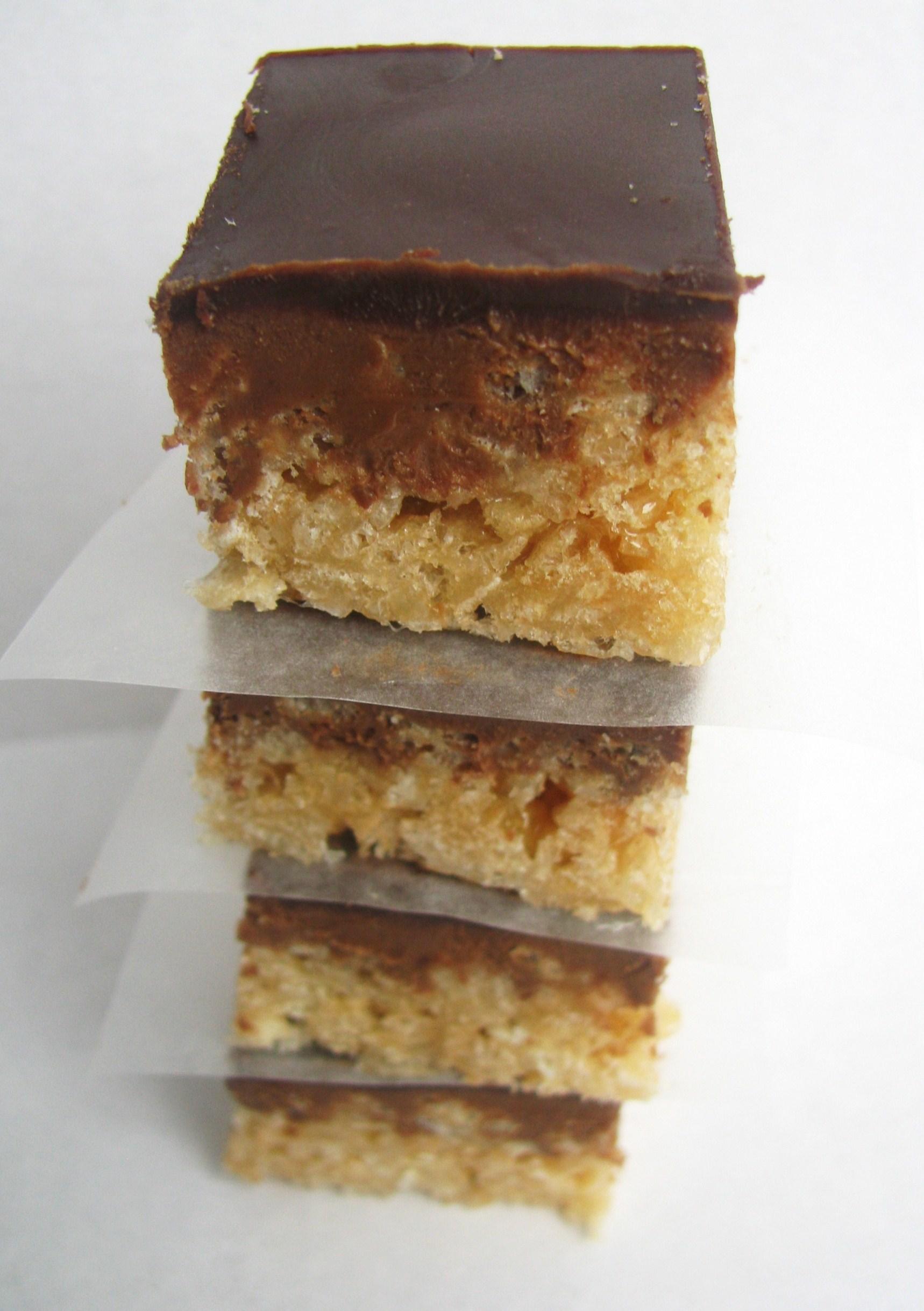 Peanut Butter Chocolate Crispy Bars | Stick a Fork in It
