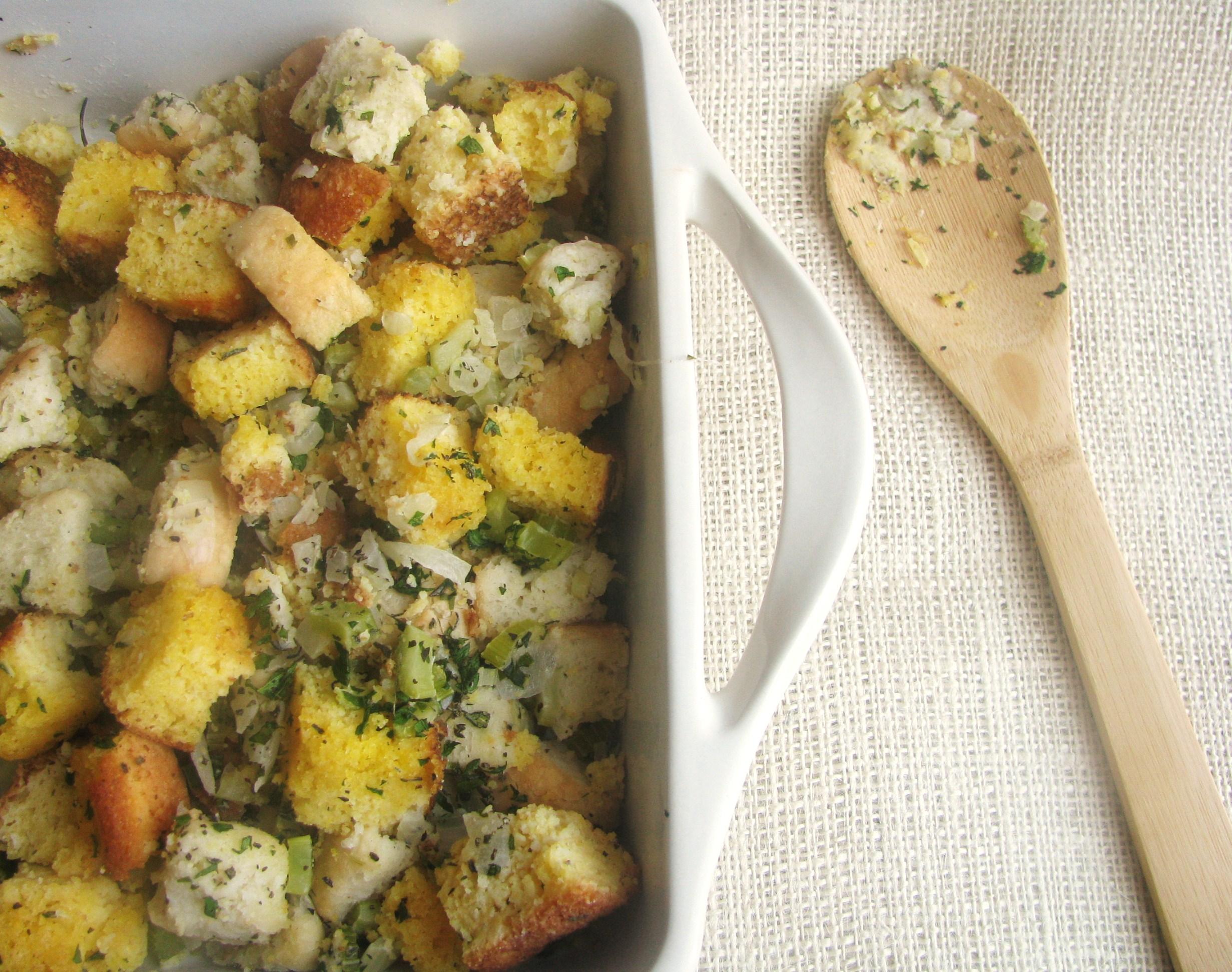 Cornbread Herb Stuffing | Stick a Fork in It